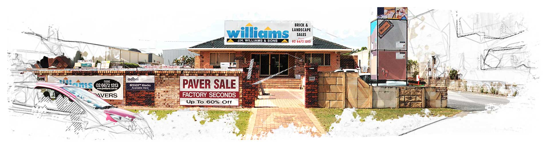 panorama of Williams Bricks Centre Chinderah