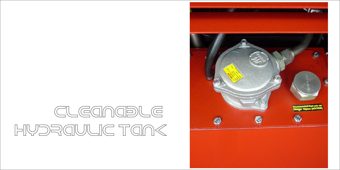 cleanable hydraulic tank